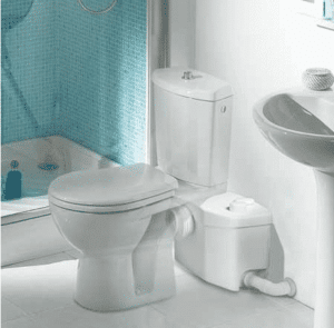 Bathroom Anywhere, saniflo, toilet anywhere